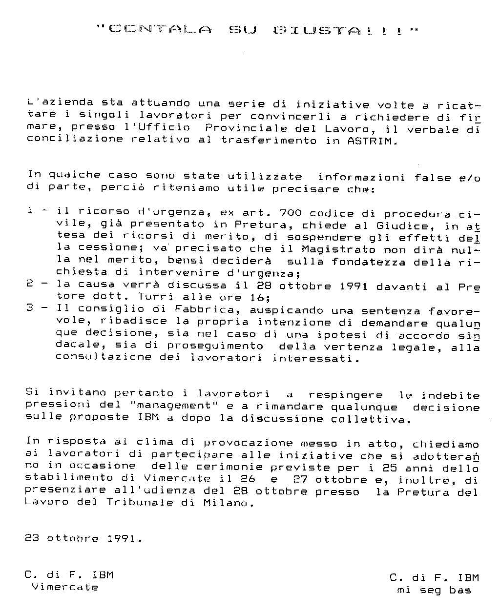 RSU IBM Italia - CONTALA SU GIUSTA !!! Astrim (911023.htm)